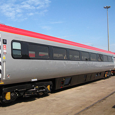 Intercity mixed class train